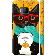 Чехол на HTC One M9 Осенний кот