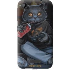 Чехол на HTC Desire 320 gamer cat