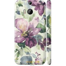 Чехол на HTC One M8 dual sim Акварель цветы