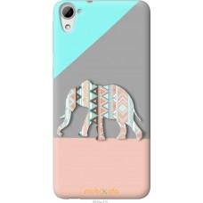 Чехол на HTC Desire 826 dual sim Узорчатый слон