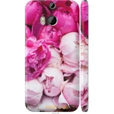 Чехол на HTC One M8 dual sim Розовые цветы