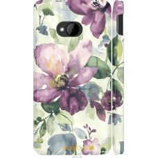 Чехол на HTC One M7 Акварель цветы