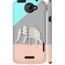 Чехол на HTC One X+ Узорчатый слон