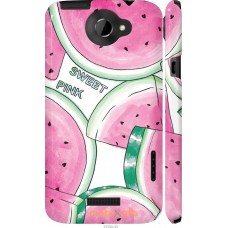Чехол на HTC One X+ Розовый арбузик