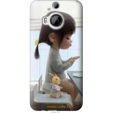 Чехол на HTC One M9 Plus Милая девочка с зайчиком