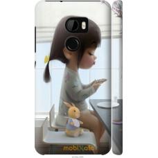 Чехол на HTC One X10 Милая девочка с зайчиком
