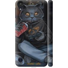 Чехол на HTC Desire 530 gamer cat
