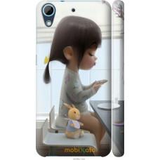 Чехол на HTC Desire 626G Милая девочка с зайчиком