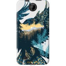 Чехол на HTC Desire 300 Арт-орел на фоне природы