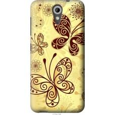 Чехол на HTC Desire 620 Рисованные бабочки