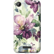 Чехол на HTC Desire 320 Акварель цветы