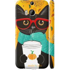 Чехол на HTC One M8 dual sim Осенний кот