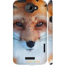 Чехол на HTC One X Рыжая лисица