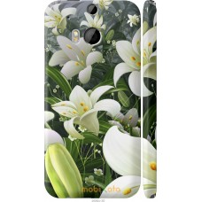 Чехол на HTC One M8 dual sim Лилии белые