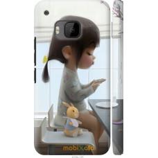 Чехол на HTC One M9 Милая девочка с зайчиком