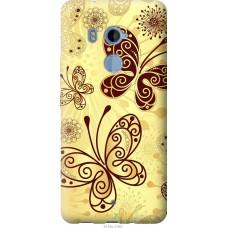 Чехол на HTC U11 Plus Рисованные бабочки