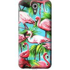 Чехол на HTC Desire 620 Tropical background
