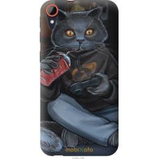 Чехол на HTC Desire 830 gamer cat
