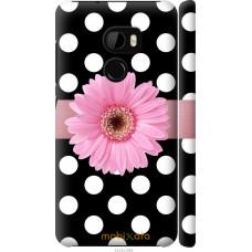 Чехол на HTC One X10 Цветочек горошек v2