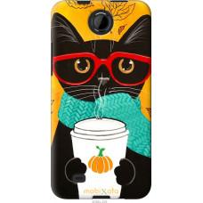 Чехол на HTC Desire 300 Осенний кот