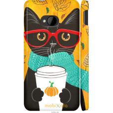 Чехол на HTC One M7 Осенний кот