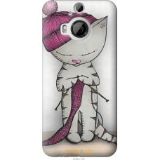 Чехол на HTC One M9 Plus Кошка рукодельница