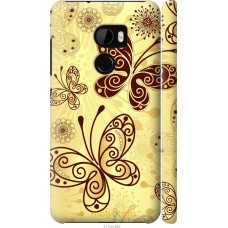 Чехол на HTC One X10 Рисованные бабочки