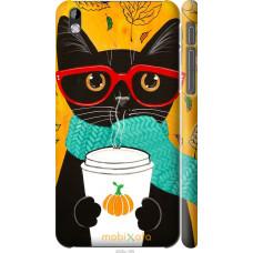 Чехол на HTC Desire 816 Осенний кот