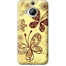Чехол на HTC One M9 Plus Рисованные бабочки