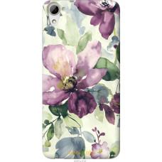 Чехол на HTC Desire 826 dual sim Акварель цветы