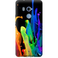 Чехол на HTC U11 Plus брызги краски
