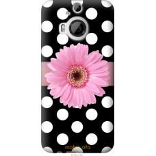 Чехол на HTC One M9 Plus Цветочек горошек v2