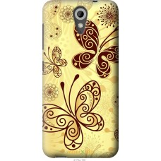 Чехол на HTC Desire 620G Рисованные бабочки