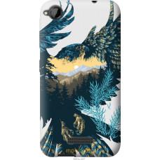 Чехол на HTC Desire 320 Арт-орел на фоне природы