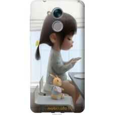 Чехол на Huawei Honor 6C Милая девочка с зайчиком