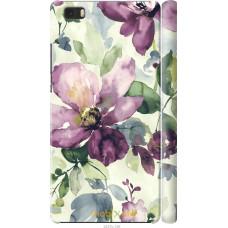 Чехол на Huawei Ascend P8 Lite Акварель цветы