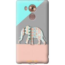 Чехол на Huawei Mate 8 Узорчатый слон