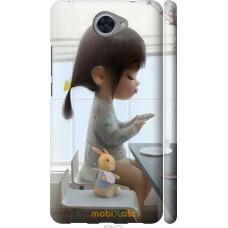 Чехол на Huawei Y7 2017 Милая девочка с зайчиком
