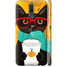 Чехол на Huawei Mate 10 Lite | Honor 9i Осенний кот