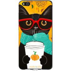 Чехол на Huawei P10 Lite Осенний кот