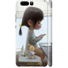 Чехол на Huawei P10 Милая девочка с зайчиком