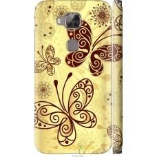 Чехол на Huawei G7 Plus Рисованные бабочки