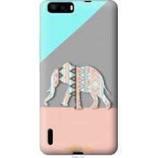 Чехол на Huawei Honor 6 Plus Узорчатый слон