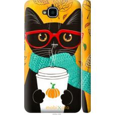Чехол на Huawei Y6 Pro Осенний кот