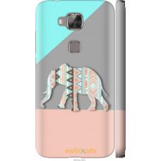 Чехол на Huawei G8 Узорчатый слон