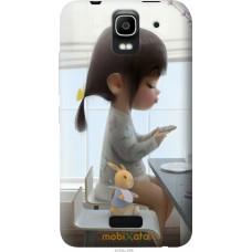 Чехол на Huawei Ascend Y3C Милая девочка с зайчиком
