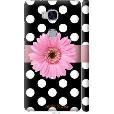 Чехол на Huawei Honor 5X Цветочек горошек v2