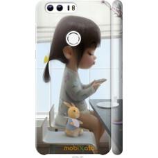 Чехол на Huawei Honor 8 Милая девочка с зайчиком
