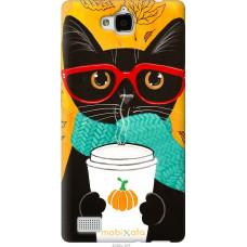 Чехол на Huawei Honor 3C Осенний кот