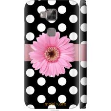 Чехол на Huawei G7 Plus Цветочек горошек v2